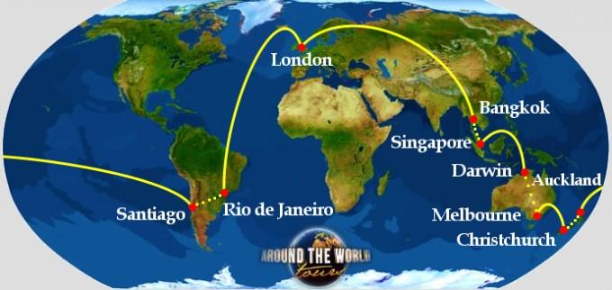 Giro del Mondo - Sud America, Oceania e Asia