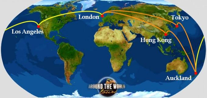 Biglietto Giro del Mondo: Asia, NZ e USA